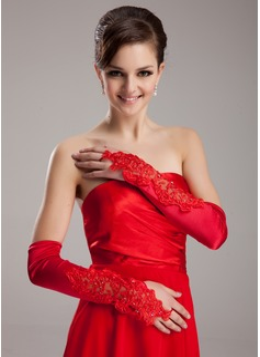 Spandex Opera Length Bridal Gloves