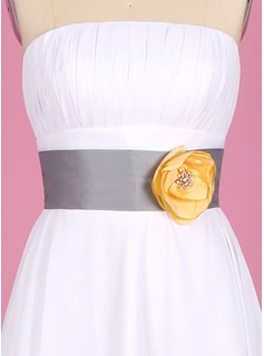 Elegant Taffeta Sash With Beading/Flower