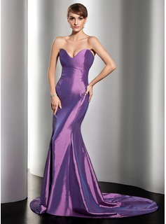 Trumpet/Mermaid Sweetheart Court Train Taffeta Evening Dress