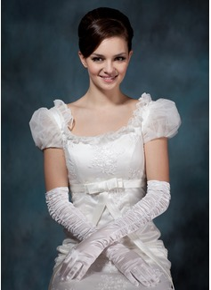 Satén elástico Opera Largo Guantes de novia