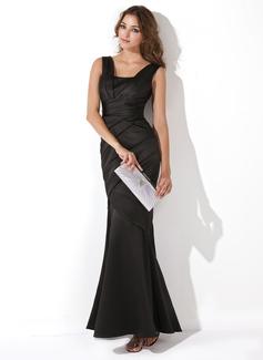 Trumpet/Mermaid Floor-Length Satin Evening Dress With Ruffle