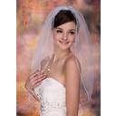 1 couche Voile de mariée longueur coude avec Liseret