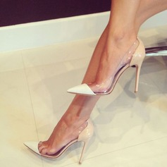 Women's Suede Stiletto Heel Pumps Closed Toe With Split Joint shoes