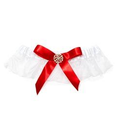 Satiniert mit Strass Hochzeit Strumpfbänder