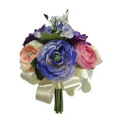 élégant Attaché à la main /Rond Satin Bouquets de Demoiselle D'honneur