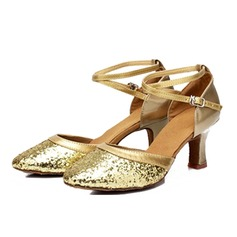 Women's Sandals Ballroom With Ankle Strap Dance Shoes