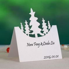 Nice Tree Design Pearl Paper Place Cards (set of 12)
