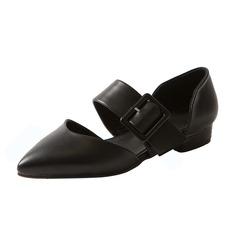De mujer Cuero Tacón plano Planos Cerrados zapatos
