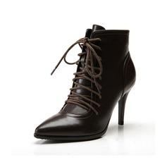 Women's Leatherette Stiletto Heel Pumps Ankle Boots shoes