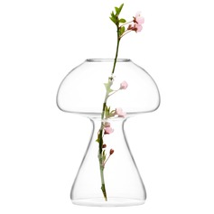 Mushroom Shaped Glass Vase