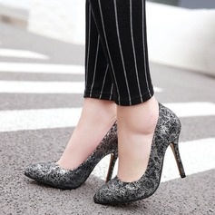 Women's Microfiber Leather Stiletto Heel Pumps Closed Toe With Others shoes