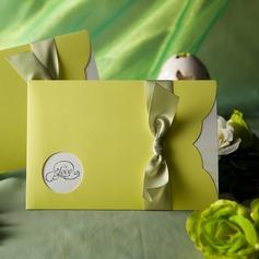 klassisk stil Wrap & Pocket Invitation Cards med Färgband (Sats om 50)