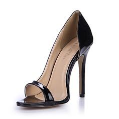 Women's Patent Leather Stiletto Heel Sandals Pumps Peep Toe shoes
