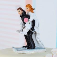 Sports Couples Résine Mariage Décoration pour gâteaux