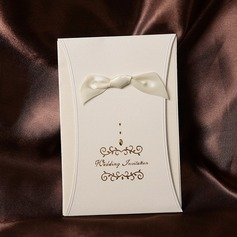 klassisk stil Wrap & Pocket Invitation Cards med Färgband (Sats om 50)