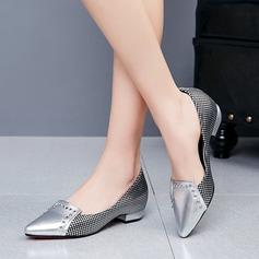 De mujer Cuero Tacón ancho Salón con Rivet zapatos