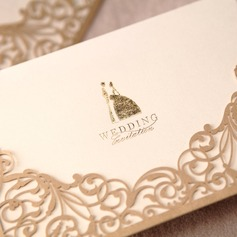 Bride & Groom stil Wrap & Pocket Invitation Cards (Sats om 50)