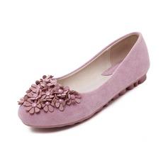 De mujer Ante Tacón plano Planos Cerrados con Flor zapatos