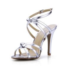 Patent Leather Stiletto Heel Sandals Pumps shoes