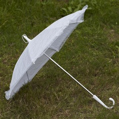 Sweet Terylene/Lace Wedding Umbrellas With Embroidery