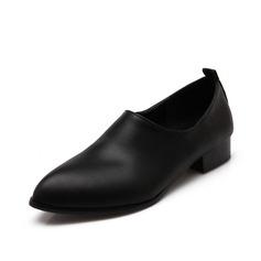 Similicuir Talon bas Chaussures plates Bout fermé chaussures