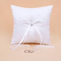 Starlight Ring Pillow in Satin With Rhinestones