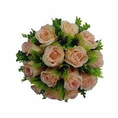 Special Hand-tied/Round Satin Bridal Bouquets