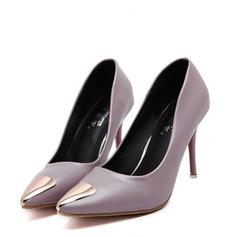 Women's Leatherette Stiletto Heel Pumps Closed Toe With Rivet shoes